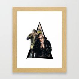 Baddbunny artwork Framed Art Print