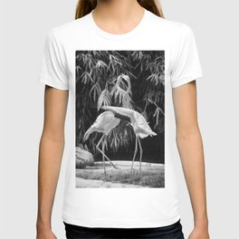 Flamingos (Black and White) T-shirt