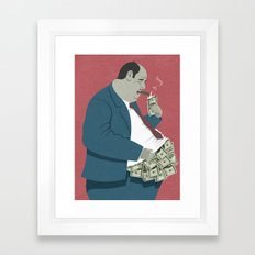 money belly Framed Art Print