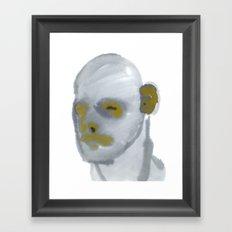 grey scale Framed Art Print