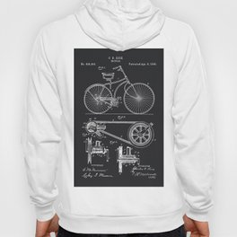 Vintage Bicycle patent illustration 1890 Hoody