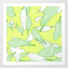 TROPICS - GREEN Art Print
