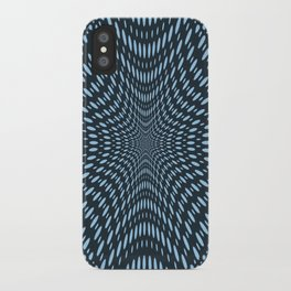 Teal Optical Illusions iPhone Case