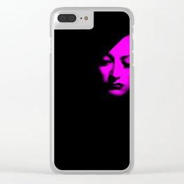 Joan Crawford Fuchsia Clear iPhone Case
