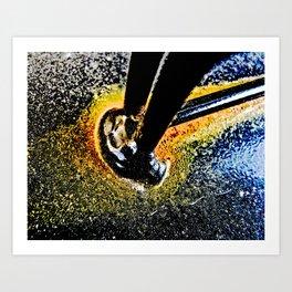 Golden Yellow Rust Art Print