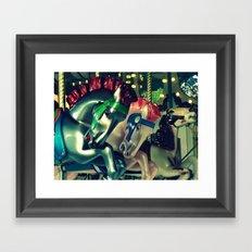 Metallic Horse Framed Art Print