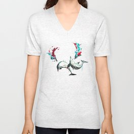 Blowing Bottlenose Unisex V-Neck