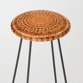 Boho Pumpkin Spice Mandala Counter Stool