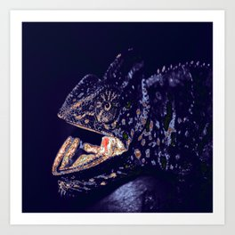 Chameleon. Recolored. Art Print