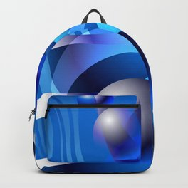 WATERMOON Abstract Art to Attract Good Energy Backpack