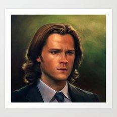 Sam Winchester from Supernatural Art Print