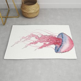 Jelly Fish White Rug