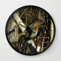 robin Wall Clocks featuring robin by giol's