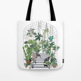 greenhouse illustration Tote Bag