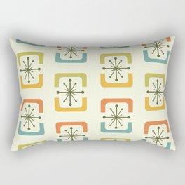 Mid Century Modern Starburst Shells Chartreuse Rectangular Pillow