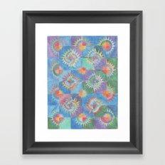 Mosaic Suns Framed Art Print