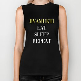 Jivamukti Eat Sleep Repeat Biker Tank