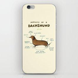 Anatomy of a Dachshund iPhone Skin
