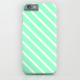 Mint Julep #2 Diagonal Stripes iPhone Case