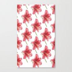 Amaryllis pattern Canvas Print