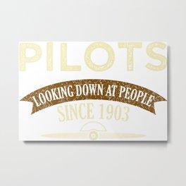 Pilot Proud Aviation Lover Gift Idea Metal Print