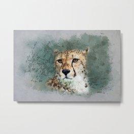Abstract Cheetah Metal Print