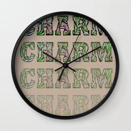 Charming - Tan & Green Wall Clock