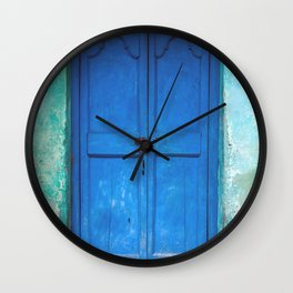 Blue Indian Door Wall Clock