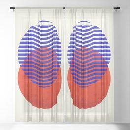 Graphic abstract circles Sheer Curtain