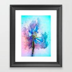 Blue Poppy Framed Art Print