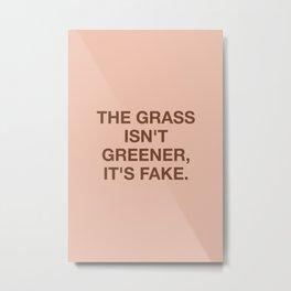 The grass isn't greener, it's fake Metal Print