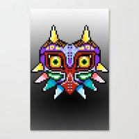 majoras mask Canvas Prints featuring Majoras Mask /Pixel /zelda by tshirtsz