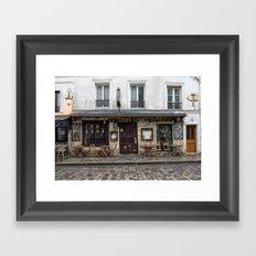 Cafe in Monmartre Paris Framed Art Print