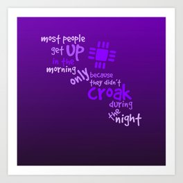 Croak-Purple Art Print