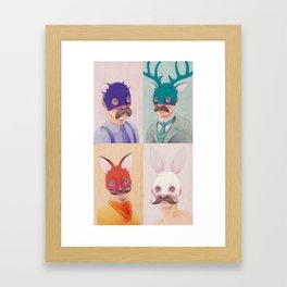 Masked Men: The Collection Framed Art Print