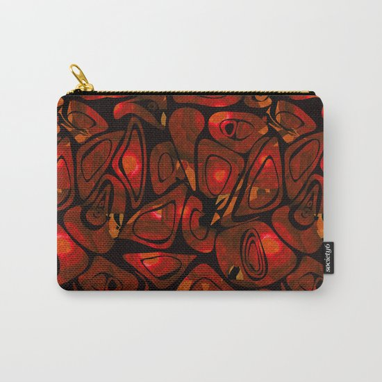 Abstract red black pattern stone texture Carry-All Pouch