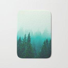 Fog Foggy Samish Forest Woods Mountain Northwest Washington Landscape Bath Mat