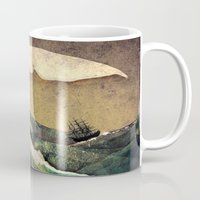 storm Mugs featuring Moby Dick by Rachael Shankman