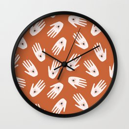See Love & Hold It | Terracotta & Pink Wall Clock
