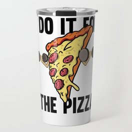 Fitness Pizza Sports Fast Food Diet funny gift Travel Mug