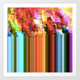 Rainbow Glitch Art Print