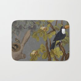assembly of birds and one cute agouti Bath Mat