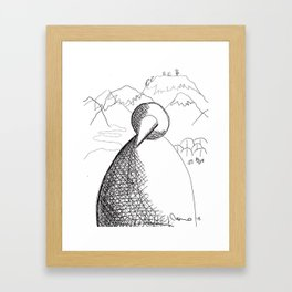 Metaphysical Penguin of Kilimanjaro 1 Framed Art Print