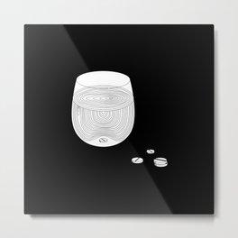 """Pills"" - Black Metal Print"