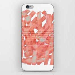 brush type iPhone Skin
