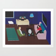 Movie Night  Art Print