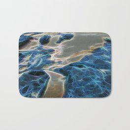 Abstract rock pool and sand on a beach Bath Mat