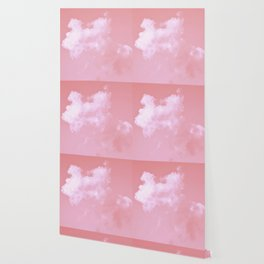 Floating candy with beige pink Wallpaper