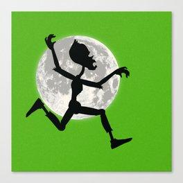 Friendly Zombie On The Go - Run Canvas Print