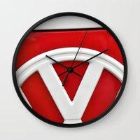 volkswagon Wall Clocks featuring VW by Jamie Klock